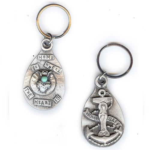 Home Safe Mary & Anchor Key Chain