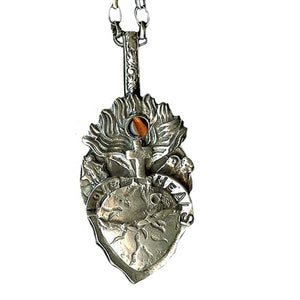 Love Heals Sacred Heart Necklace