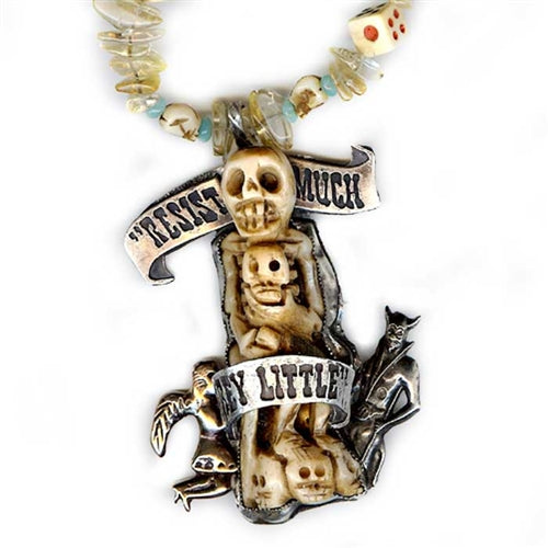 Resist Much, Obey Little Necklace