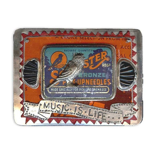 Music Is Life Belt Buckle