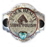 Black Beauty Stove Polish Belt Buckle