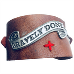 Bravely Done Leather Cuff