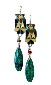 Inlaid Thunderbird Earrings