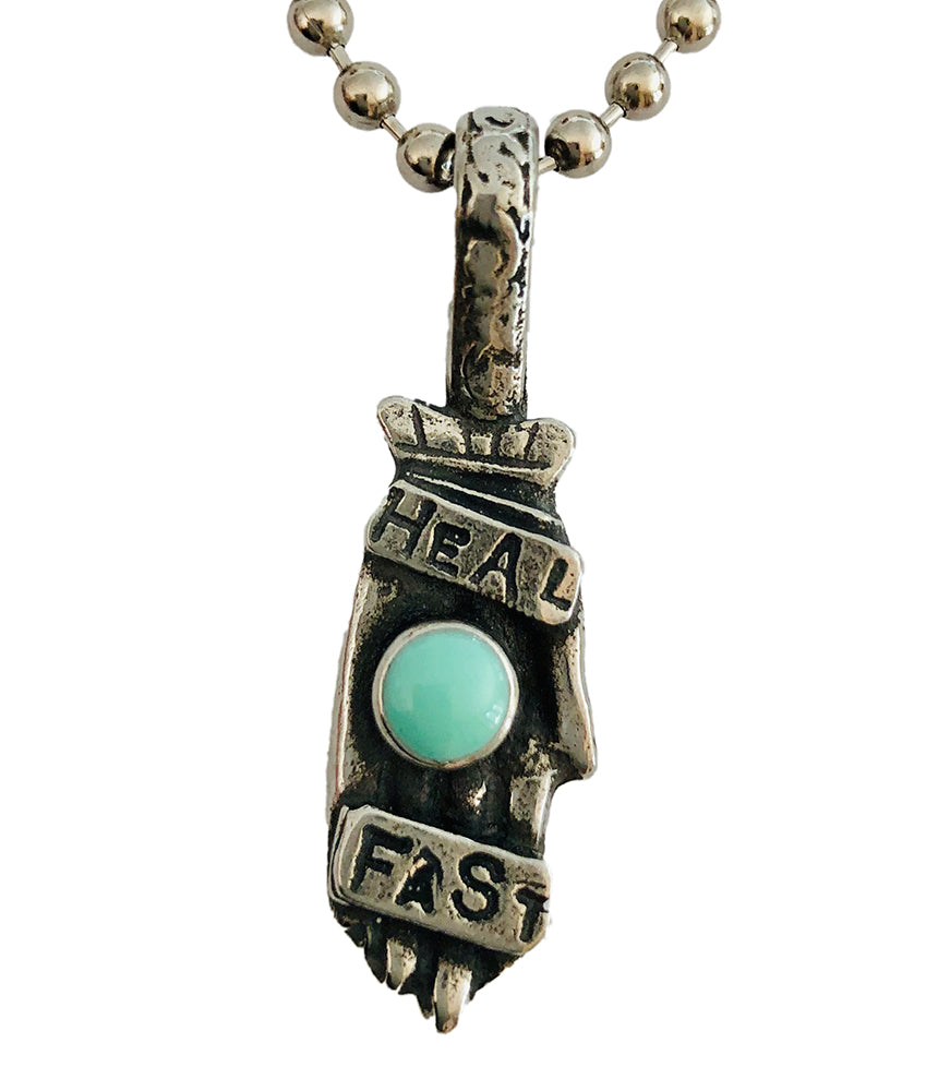 Heal Fast Pewter Pendant