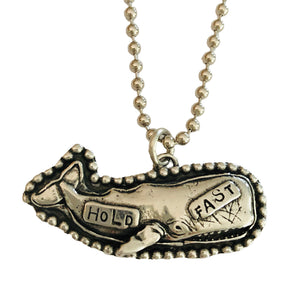 Hold Fast Whale Pendant