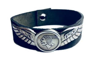 Live Free Leather Cuff