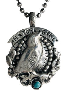 Nature Girl Pewter Pendant