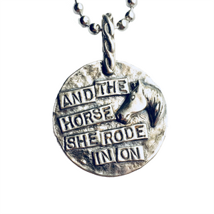Protect This Rider Sterling Pendant