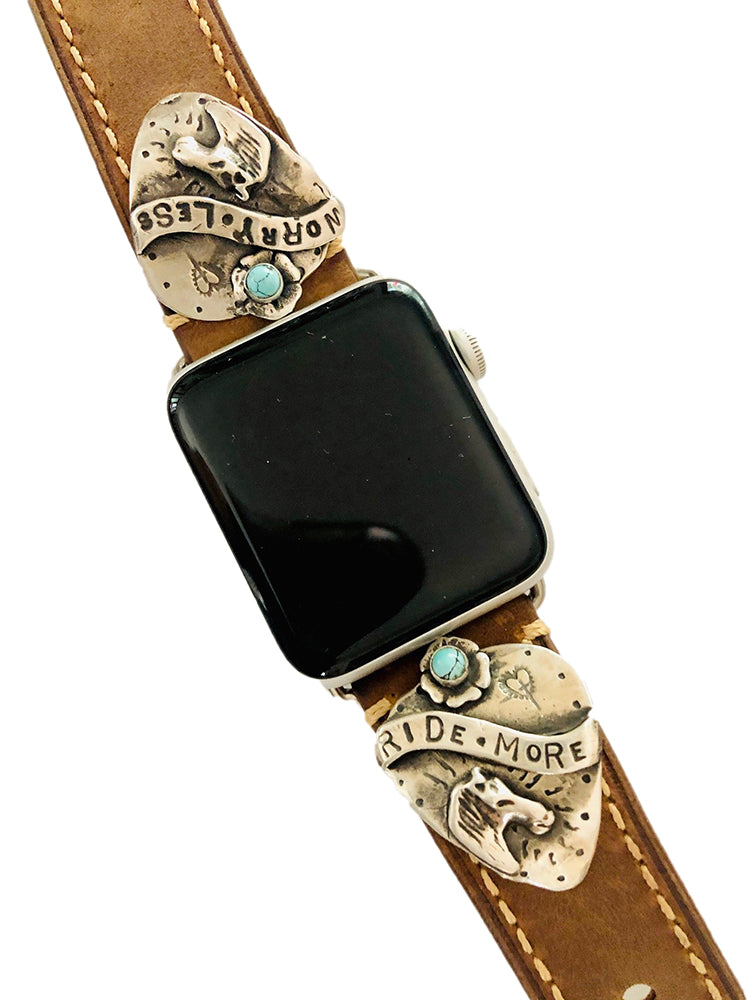 Ride More, Worry Less Apple Watch Band