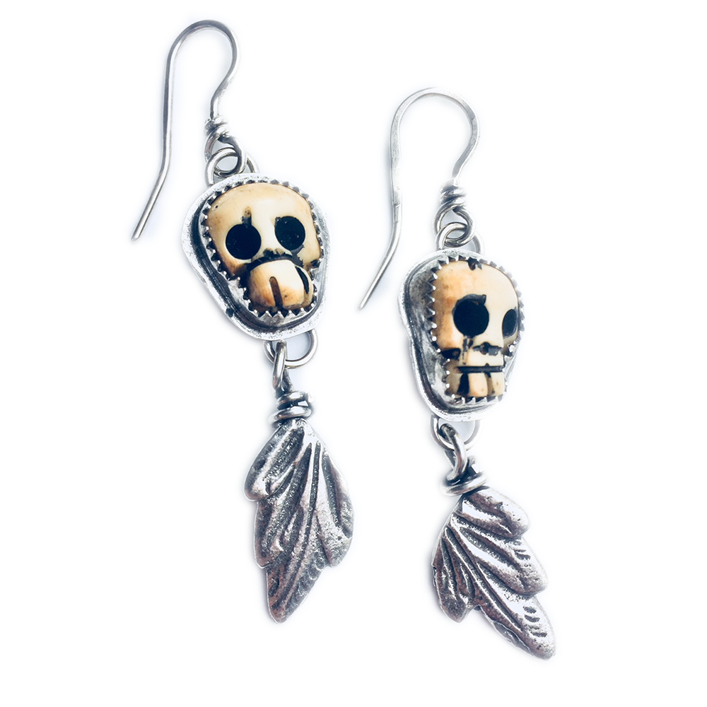 Kindred Spirits Skull Dangles