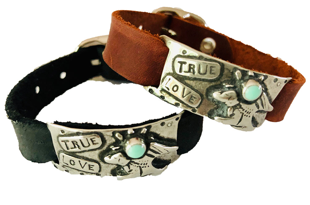 True Love Pewter Bracelet