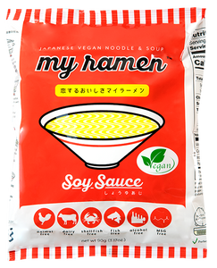 9 Pack MyRamen Soy Flavor 100% Natural MSG Free Instant Ramen - SOLD OUT