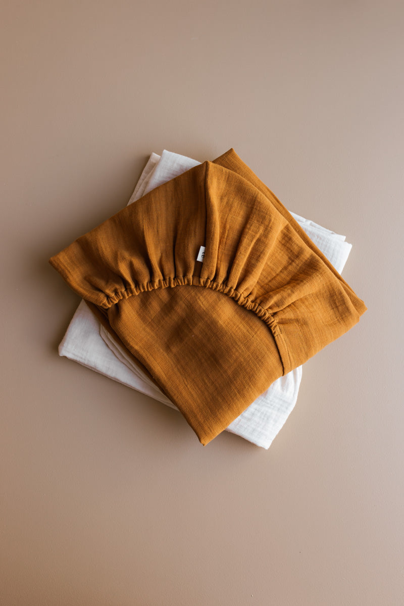 fitted sheet - almond