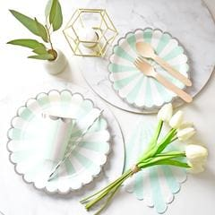 wholesale mint green party plates and cups