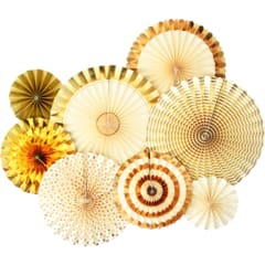 wholesale gold paper fans | party supply