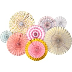 wholesale pink and gold paper fans | party supply | princess party