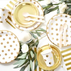 wholesale gold party plates and cups