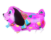 PINK COLORFUL DOG WALKING BALLOON ANIMAL