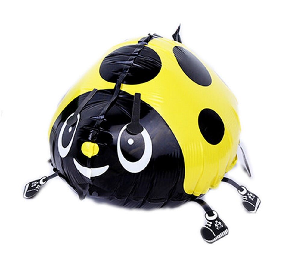 YELLOW LADYBUG WALKING BALLOON ANIMAL