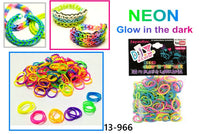 NEON MIXED COLORS 600 Pcs Bag DIY LOOM RUBBER BAND REFILLS