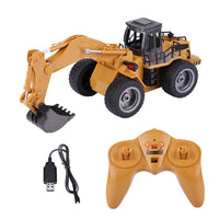 HuiNa Toys 1530 6 CH 1/18RC Metal Excavator Charging Bulldozer RC Front Loader