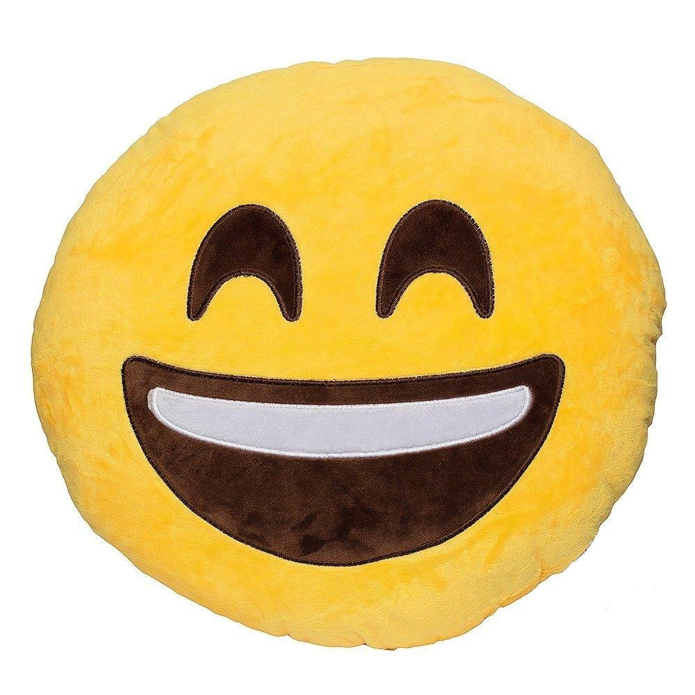 "LAUGH EMOTICON PLUSH PILLOW, 12"" INCHES"
