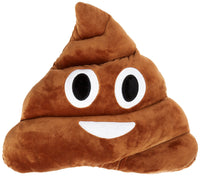"POO EMOJI PILLOW, 13"" INCHES"