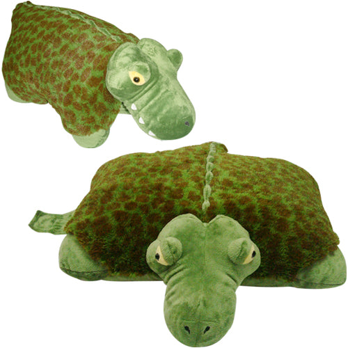 "SMALL ALLIGATOR PET PILLOW 11"" inches, My Friendly Plush Alli Toy"