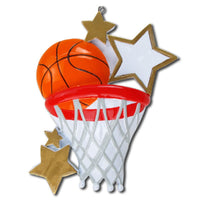 Basketball Personalized Christmas Tree Ornament X-mass NEW