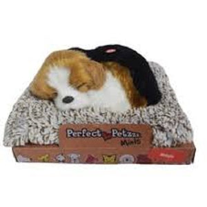 MINI PERFECT PETZZZ BEAGLE PLUSH PUPPY BREATHING SNORING HUGGABLE ANIMAL MY PET