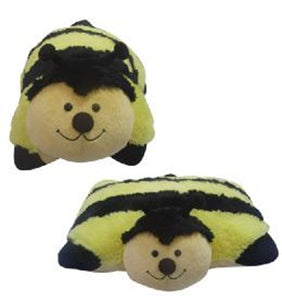 "LARGE BUMBLE BEE PET PILLOW 18"" inches, ""Plush & Plush"" Yellow My Plush"