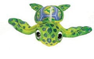 "Fiesta Big Eyes Green Turtle 11.5"" Inch My Plush Ocean Pet Pillows Sea World Toy"