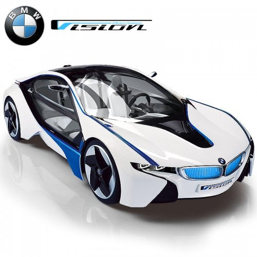 BMW I8 Vision w/Lights Rechargeable Batteries Vehicle 1:14 Scale Licensed White