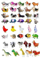 GIFT DEPOT® TM SET/LOT OF 40 WALKING ANIMAL BALLOON PETS AIRWALKERS FOIL HELIUM