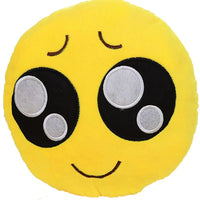"BIG EYES EMOJI PILLOW, 12"" INCHES"