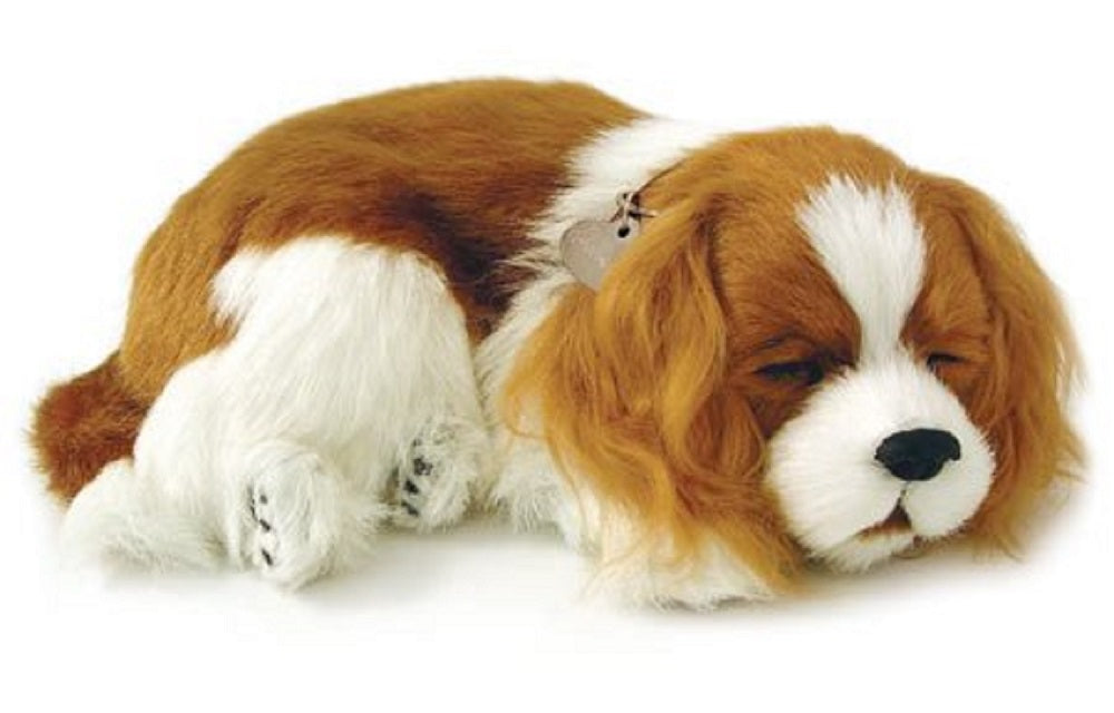 PERFECT PETZZZ CAVALIER KING CHARLES PLUSH PUPPY BREATHING HUGGABLE ANIMAL DOG