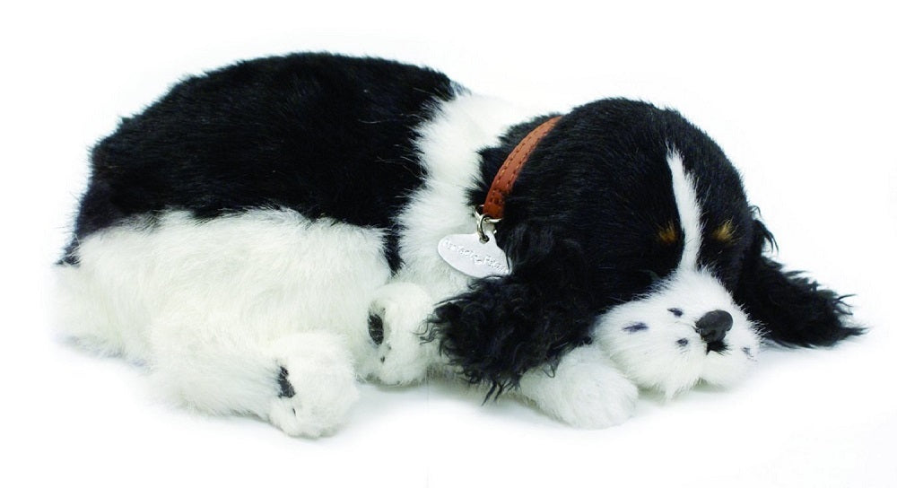 PERFECT PETZZZ COCKER SPANIEL PLUSH PUPPY BREATHING HUGGABLE ANIMAL DOG REAL PET