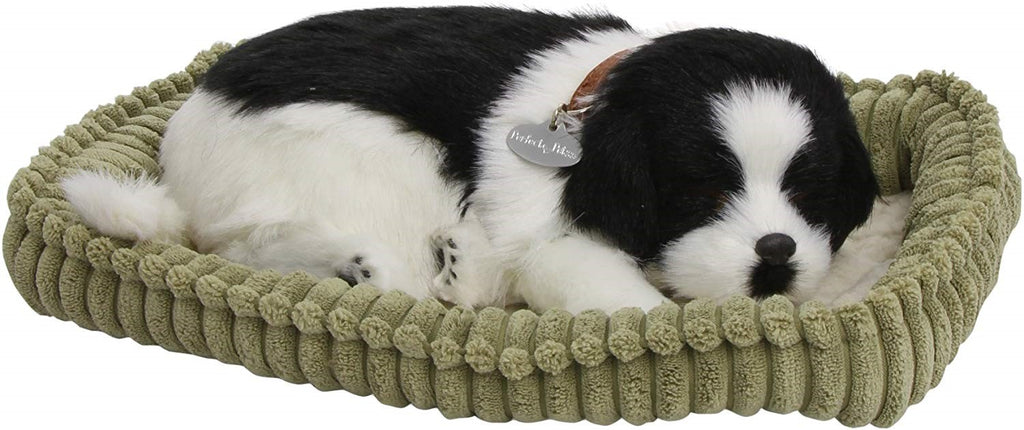 PERFECT PETZZZ BORDER COLLIE SOFT PLUSH PUPPY BREATHING HUGGABLE ANIMAL DOG