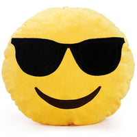 "COOL EMOTICON PLUSH PILLOW, 12"" INCHES"
