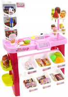 40pcs Pink Dessert Shop PlaySet Ice cream Candy Chocolate Bread Toy