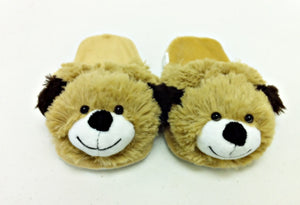 DOG SLIPPERS PET PILLOW, My Brown Puffy Animal SMALL/MEDIUM