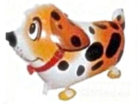 ORANGE DALMATIAN DOG WALKING BALLOON ANIMAL