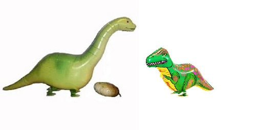 SET OF 2 DINOSAURS WALKING ANIMAL BALLOON PET AIR FOIL HELIUM BIRTHDAY PARTY