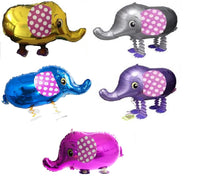 SET OF 5 ELEPHANTS WALKING ANIMAL BALLOONS AIR FOIL HELIUM BIRTHDAY PARTY PETS