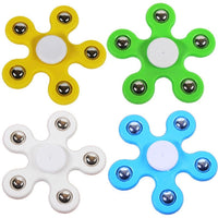 FLOWER Fidget Hand Spinner Stress Anxiety Relief Toy Spins ADD Yellow Gyro