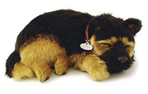 PERFECT PETZZZ GERMAN SHEPHERD PLUSH PUPPY BREATHING HUGGABLE ANIMAL DOG