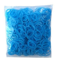 GLOW IN DARK LIGHT BLUE 600 Pcs Bag DIY LOOM RUBBER BAND REFILLS