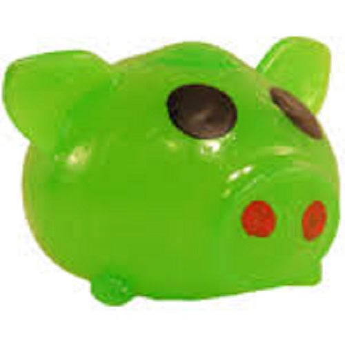 GREEN PIG SPLAT BALL (STRESS BALL, SQUEEZE BALL)
