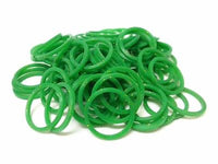 GLITTERED GREEN 600 Pcs Bag DIY LOOM RUBBER BAND REFILLS