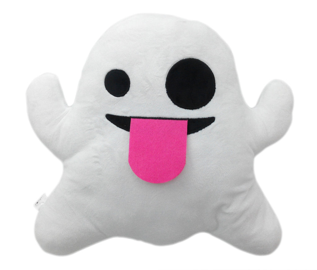 "GHOST EMOJI PILLOW, 11"" INCHES"